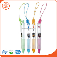 Lantu China Wholesale Smooth Writing Fashion Cartoon Logo Ball Point Pen With Lanyard