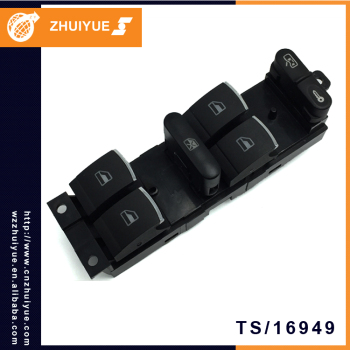 ZHUIYUE 18G 959 857B / 3BD 959 857 10Pin Car Electric Power Window Master Switch For VW BORA