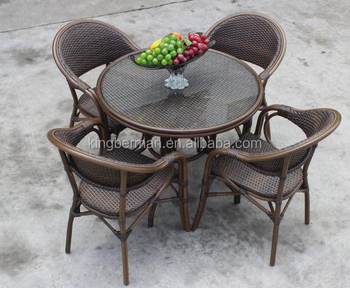 Rattan Bistro Set French Chairs