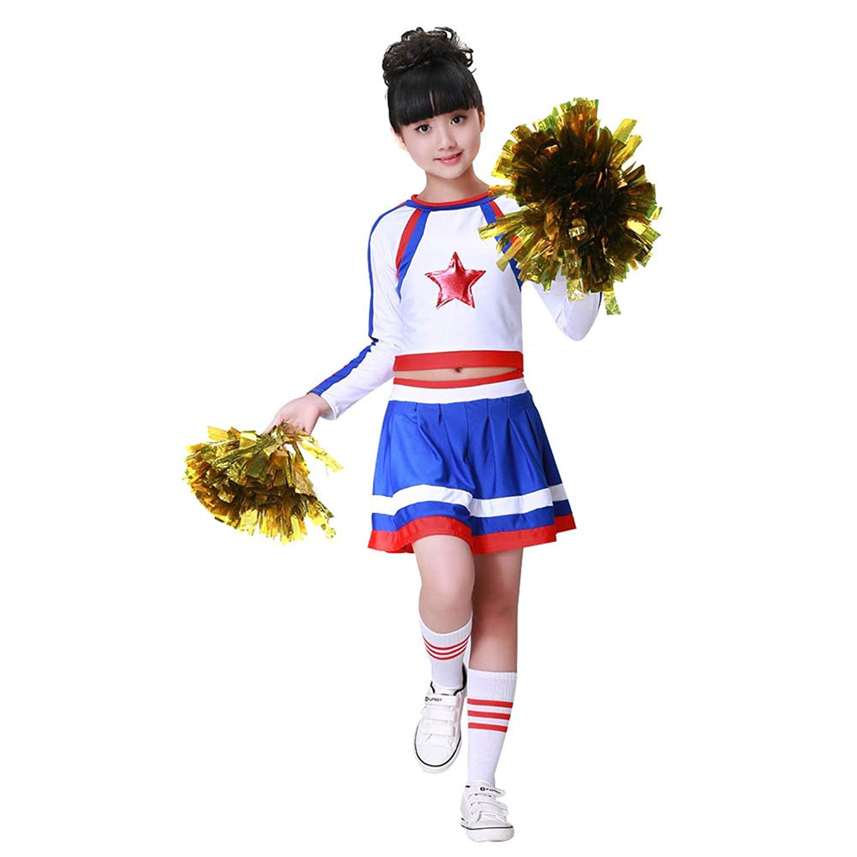 e7aa92607 Get Quotations · Girls Cheerleading Uniform Costume Energetic School  Perform Fancy Dress Brilliant Colors