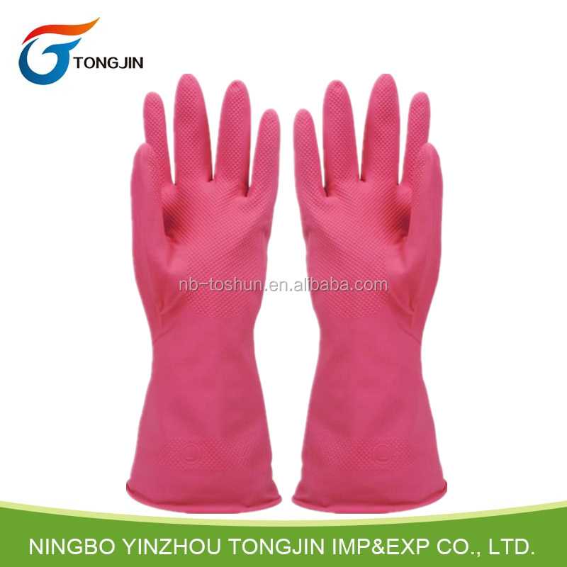Household cleaning china long latex gloves