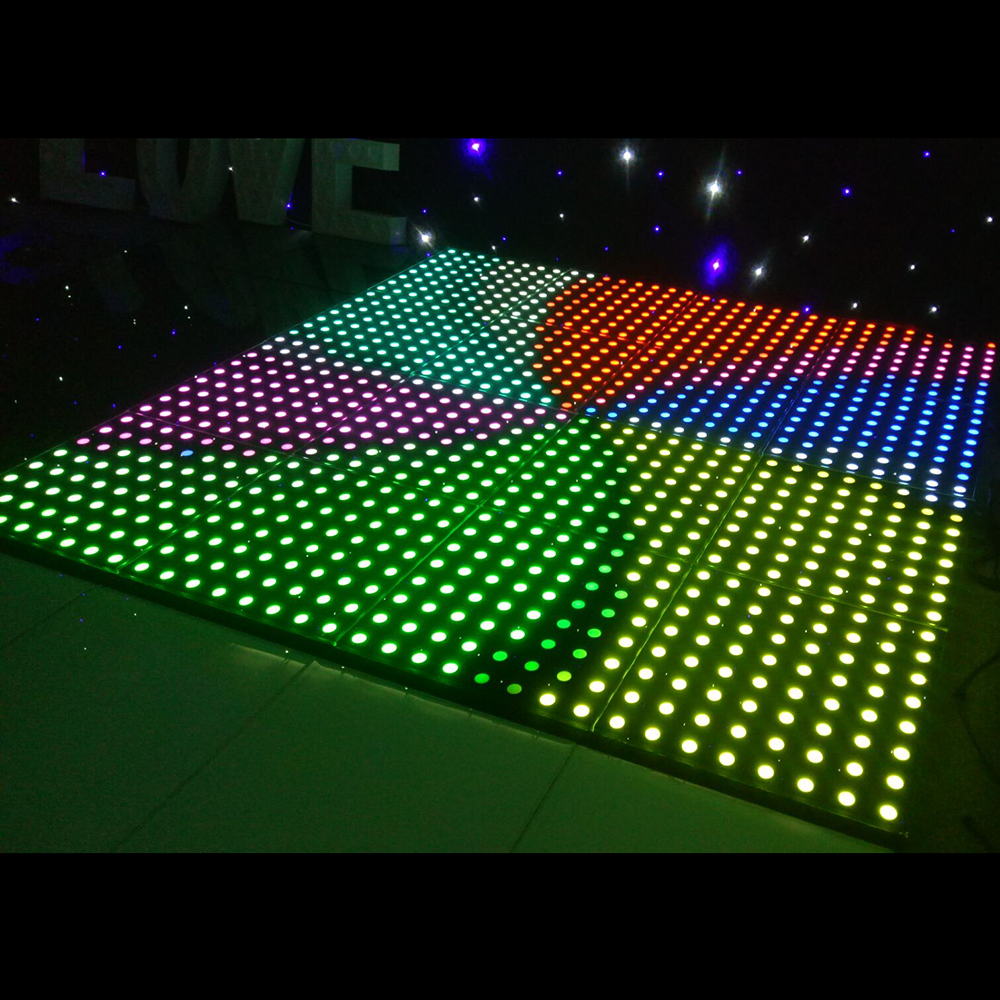 RGB 3in1 led stage lights interattivo illuminato pavimentazione digitale DMX led video dance 8x8 piastrelle