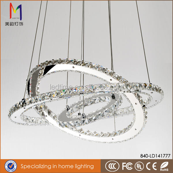 haute luminosit 233 smd acier inoxydable led moderne lustre en cristal 201 clairage buy product on