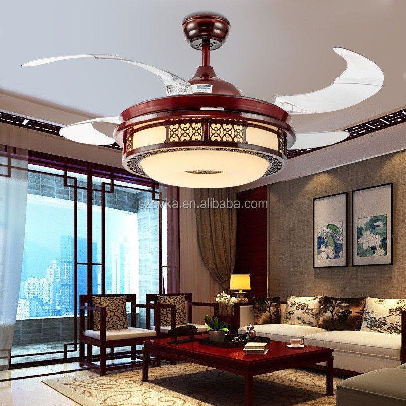Ce Rosh 42 Inch Chinese Style Retro Store Decorative Invisible Elegant Wooden Led Ceiling Fan Lights Buy Chinese Style Fan Light 42 Inch Led Decorative Fan Lights Simple Moder Fan Light Product On
