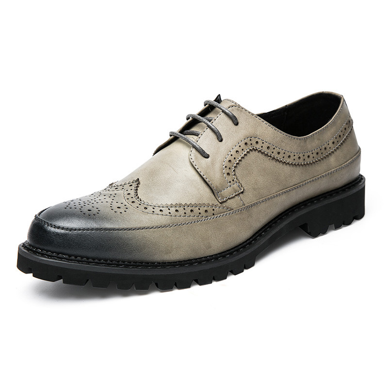 2017 new arrivals leather mens brogue oxford shoes