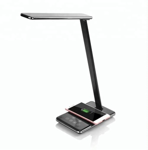 2019 newest ideal Qi wireless charger with smart LED desk lamp multi-function