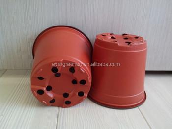 Plastic Plant Container Flower Pot Black Nursery