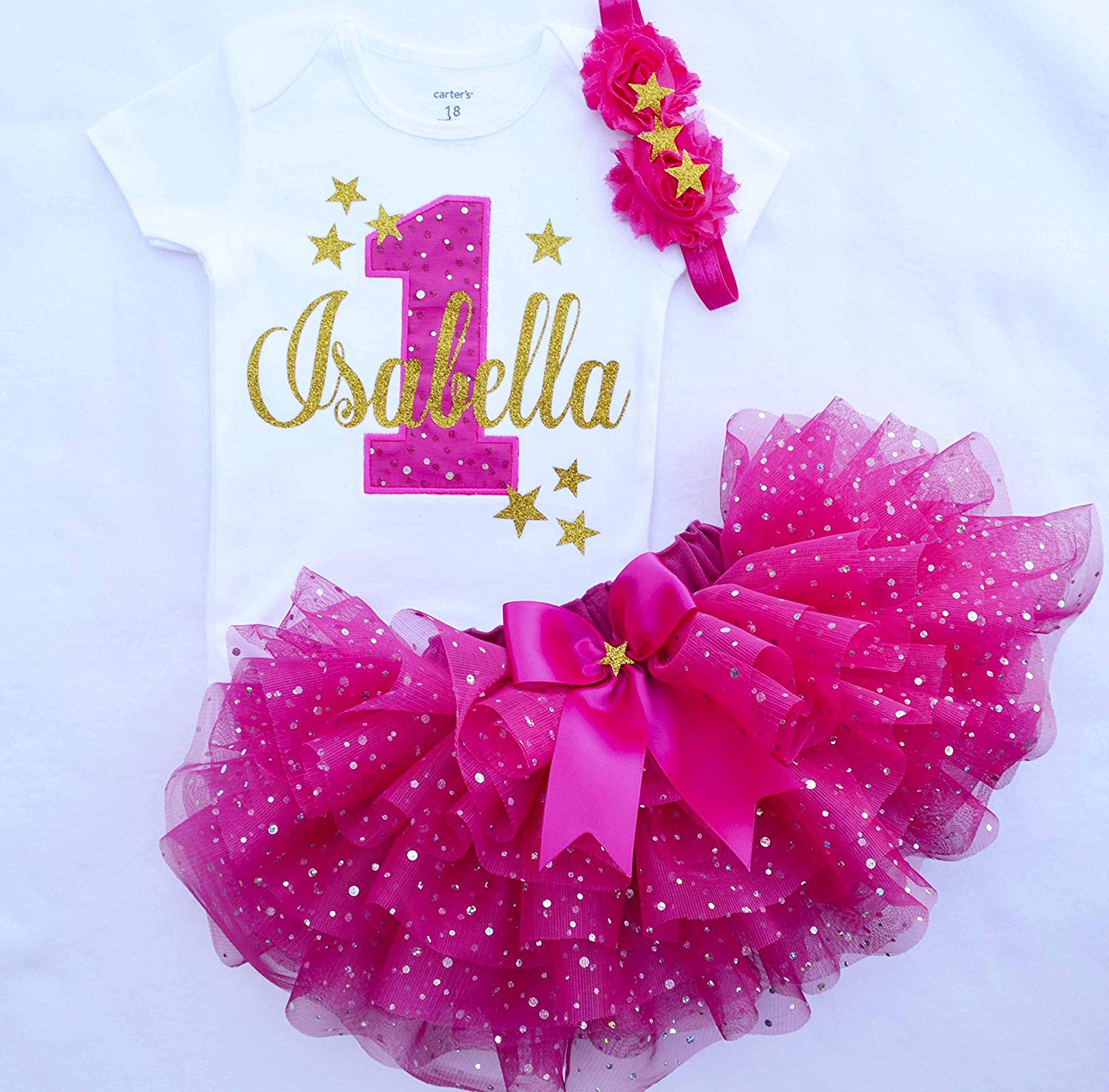 df84803e4 Get Quotations · First Birthday Outfit Girl,hot pink gold ,Girl Cake Smash  Outfit,twinkle twinkle