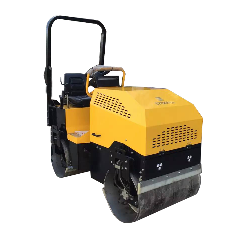 2ton Small Diesel hydraulic steering Vibratory road Roller machine price