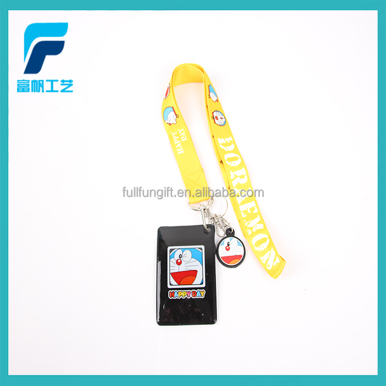 Manufacture novelty PVC id card holder lanyard for student