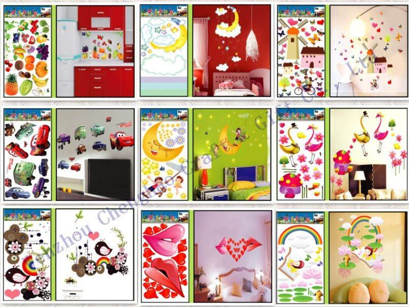 custom decorative removable vinyl wall decals for kids room furniture decoration