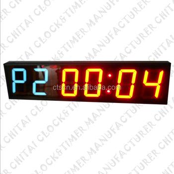 Made In China Digital Double Color Display Led Ajanta Wall Clock