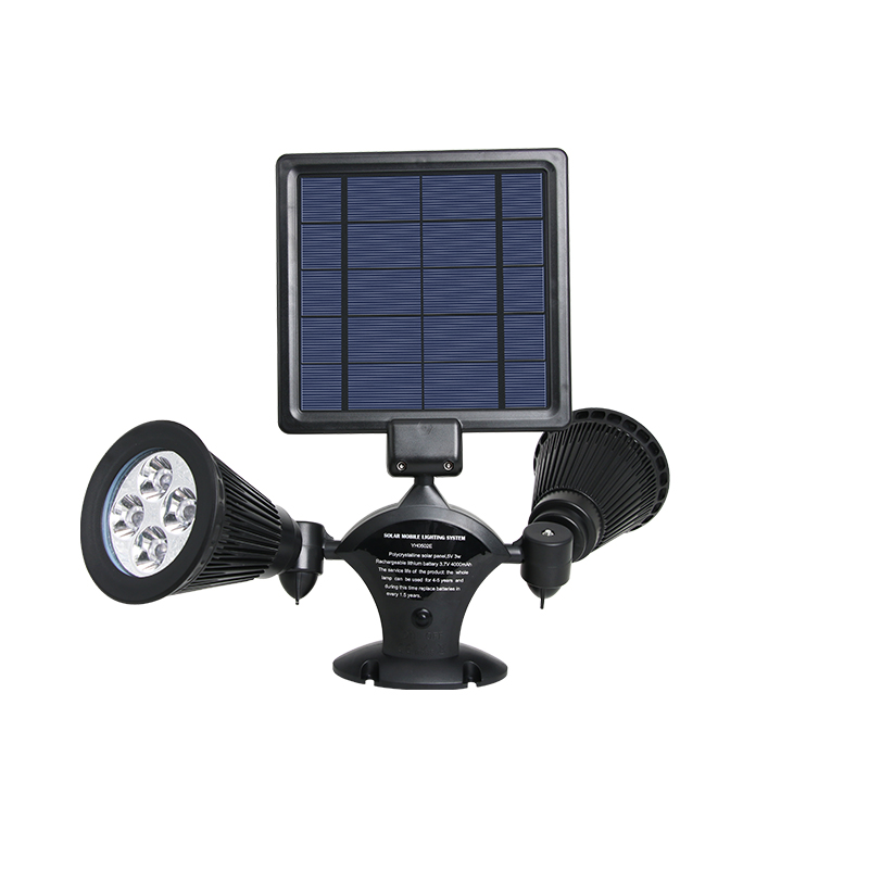 Adjustable Solar Powered Landscaping Solar Dual LED Lights 2 in 1 Spotlight Handheld and Battery Operated mini Led Spotlight