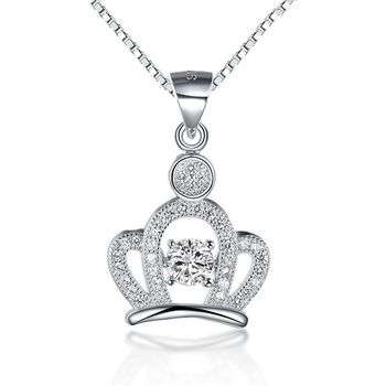 High quality simple design silver diamond big fantasy jewelry high quality simple design silver diamond big fantasy jewelry princess crown pendant necklace findings dubai white aloadofball Images