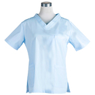 Hot Sale Style Hospital Housekeeping Uniform Design Sky Blue Hospital Uniform Medical Scrubs For Women