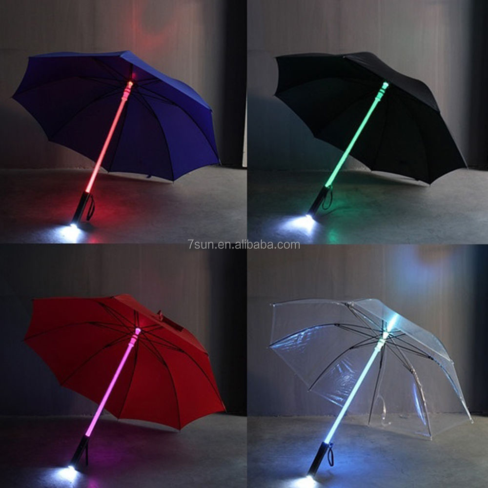 2017 trending products Night Walkers Cool Blade Runner Light Saber led umbrella