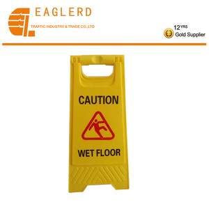 Hot sale wholesale portable road safety traffic sign plastic caution wet floor warning signs