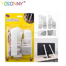 Baby Safety Furniture Wall Straps Anti-Tip Strap TV & Furniture Anti Tip Anchor Straps
