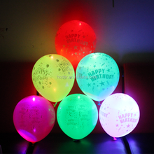 Wholesale china cheap led light baloon latex neon party balloons with logo