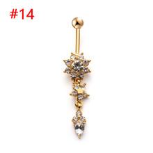 1 шт., популярные сексуальные кольца на пупок живота с фианитами, кристаллами, драконом и змеей, кольца для пирсинга живота, ювелирные издели...(Китай)