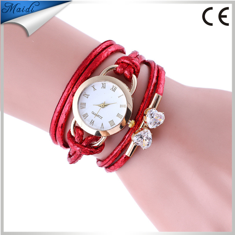 6ac2358d9 Wholesale Stylish Weave Leather Bracelet Watch Rope Braided Crystal Clock  Designer Wrap Around Watch With Diamond