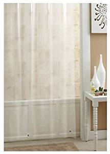 "Ex-Cell Shower Liner Heavy Duty 70 "" X 78 "" Super Soft Vinyl Frosty"