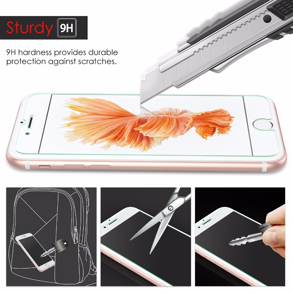In stock 2016 newest trending products ultra HD clear tempered glass screen protector for iphone 7 plus bulk buy from china