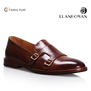 d3fb1e1d217 Double Monk-strap Mens Slip-on dress leather loafers shoes for wholesales