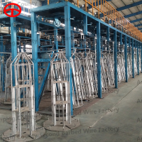 High speed hot dip making machine equipments wire galvanizing production line