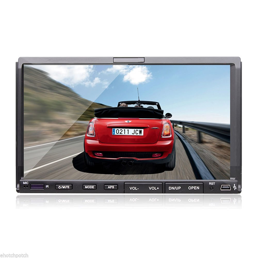 """Double 2 Din 7"""" In Dash Stereo Car DVD Player Bluetooth Radio SD/USB 2 Din TFT Screen In-Dash Car DVD Player Bluetooth,RDS"""