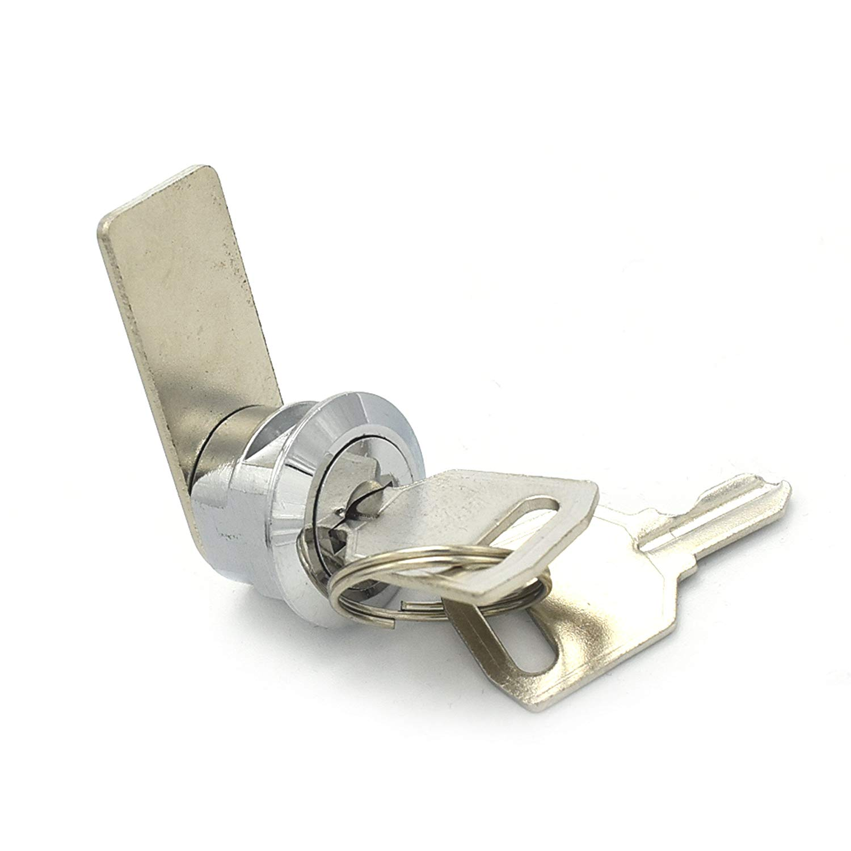 Rarelock Cabinet Lock Cam Locks and Box Lock with Bright Chrome Keys Mini Locks Keyed Alike