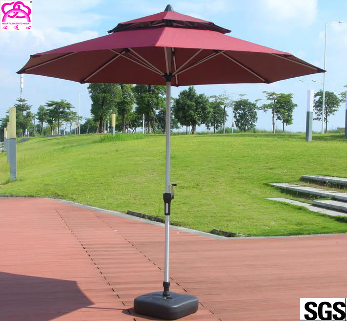 Steel cheap modern red garden furniture umbrella 10ft patio Umbrella parasol