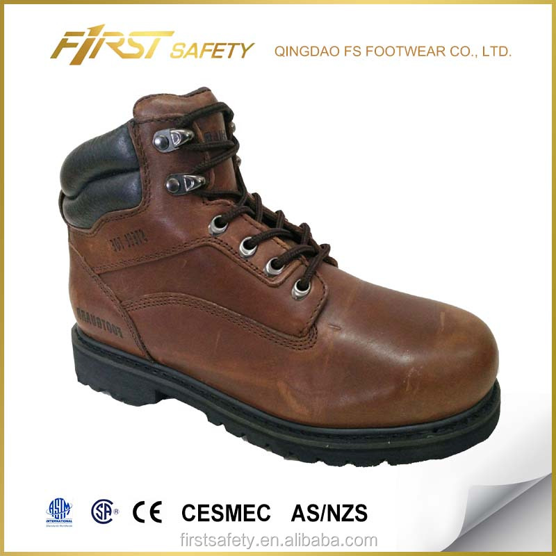 Toe Leather Price Men Competitive Boots for Steel with Genuine Work with FS1504 xPY5TqwR