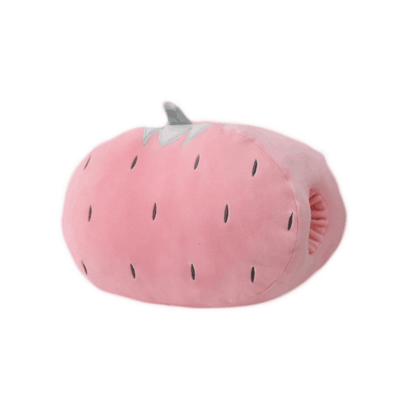 ultra soft plush <strong>animal</strong> and fruit style strawberry kiwifruit pineapple shiba pig rabbit cat shaped hand warmer