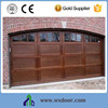 Surface finished automatic open type sectional garage door