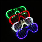 LED light flashing glasses LED glasses toy shutters cold light luminous glasses night club concert party holiday shutter shades