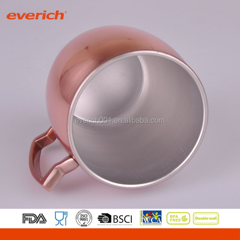 Everich customized 500ml copper mugs moscow mule manufactured China