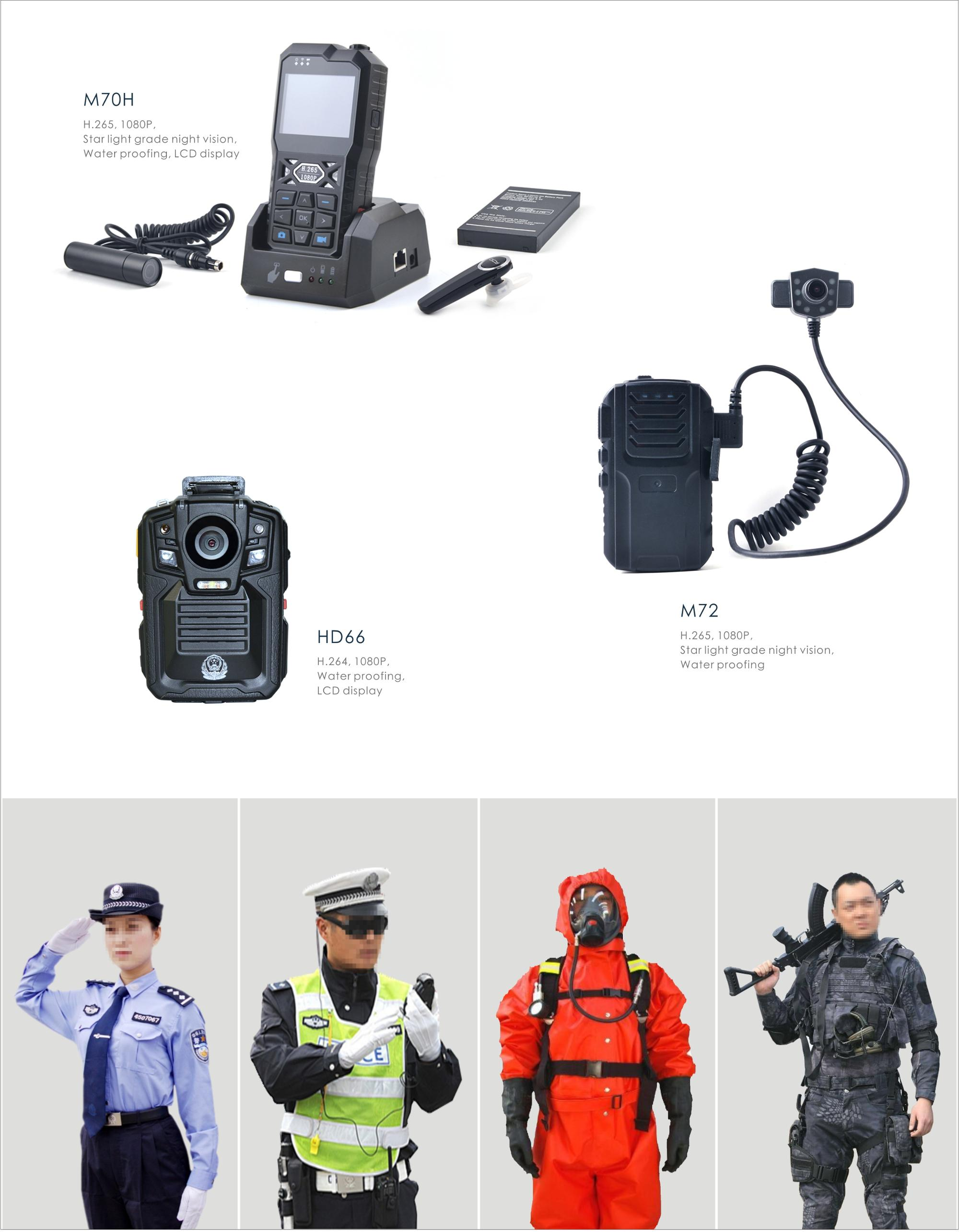 Wireless 4g wifi GPS Police security guard Wearable Body Worn Camera