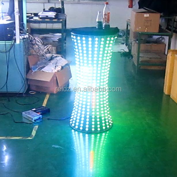 Led Illuminated Furniture Table Graphics Rotating Jewelry Display ...
