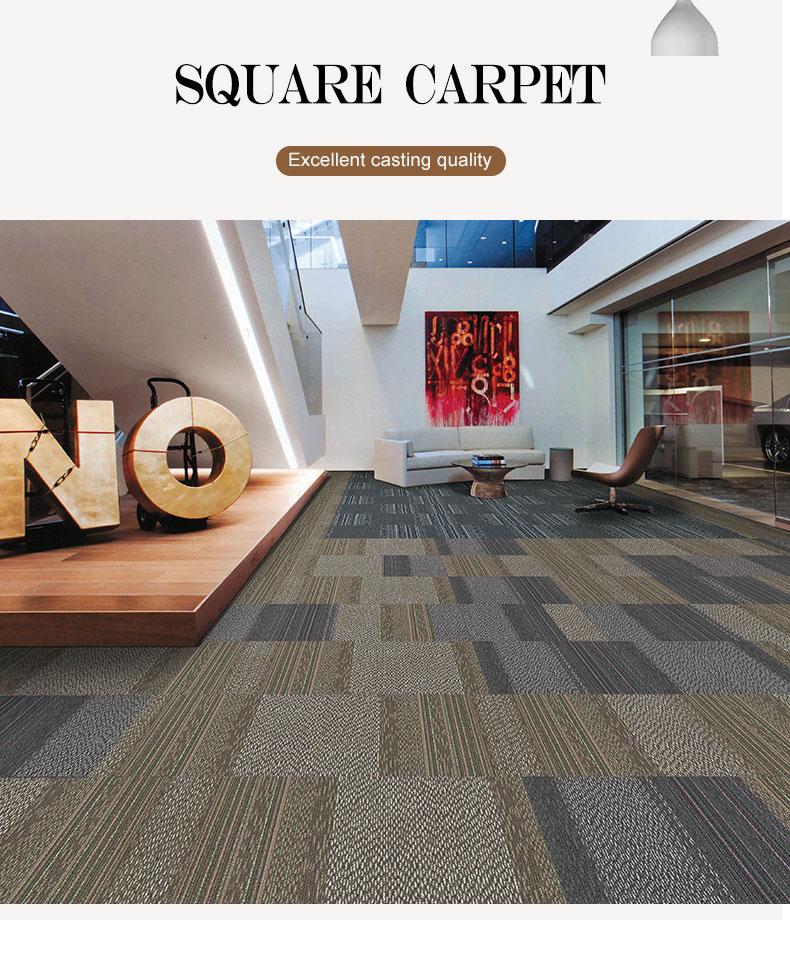 Color Corn Fiber With Pvc Back Water Resistant Carpet Tile