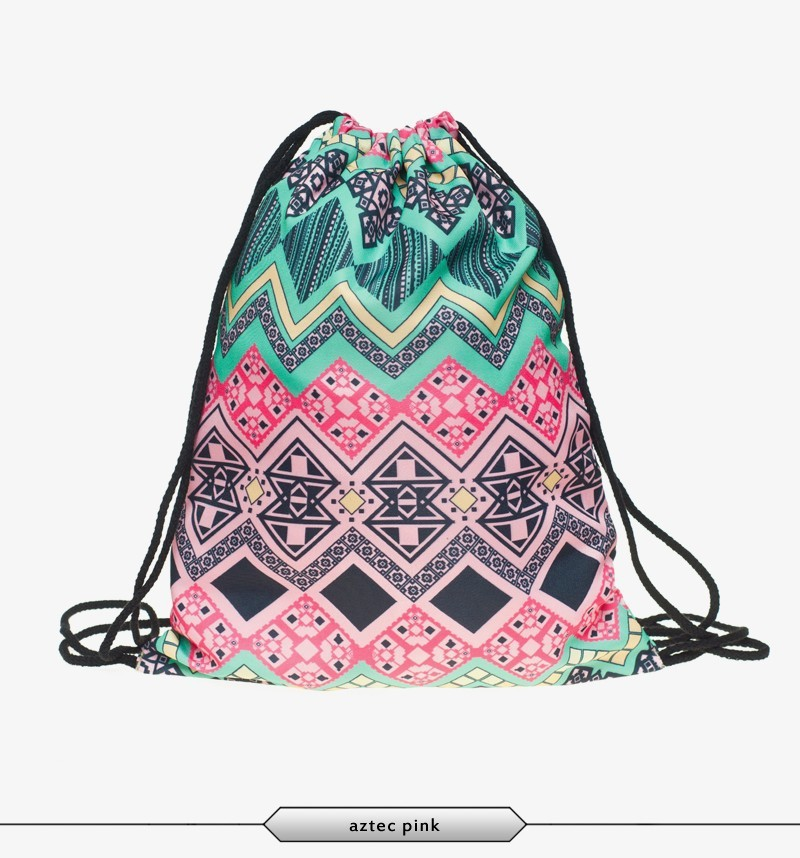 polyester aztec design ready stock leather backpack