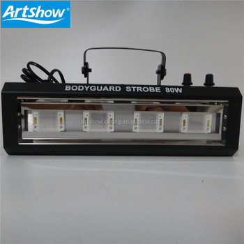 mini led strobe 4pcs*20w RGB TRI COLOR 80W AC100-240V rgb Led Strobe Light For Bar Dmx Stage Night