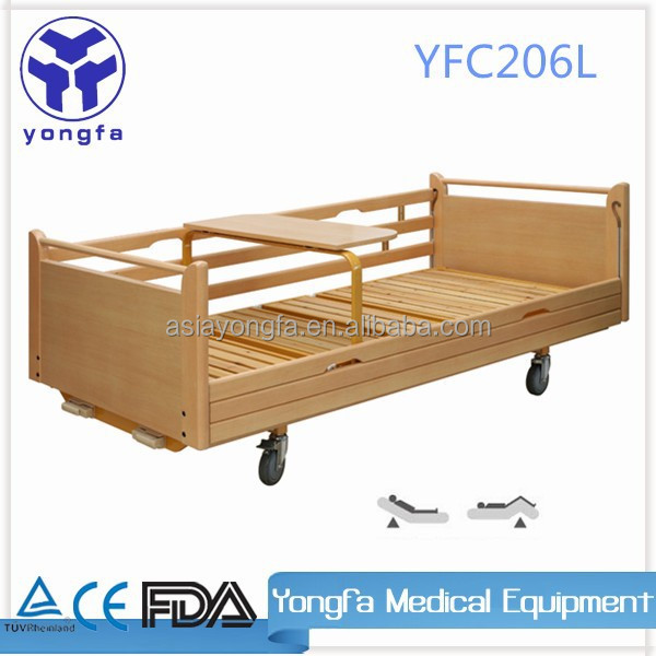 YFC206LMedical Furniture Bed manual wood bed