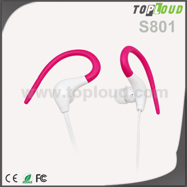 2015 New Fashion sports ear earphones in-ear for mp3 computer general earphones 3.5mm hot sale