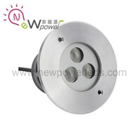 3*2W cool white IP67 24VDC 316 stainless steel led in-ground well light