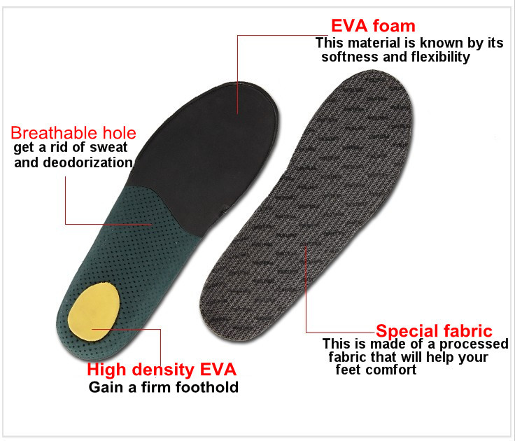 Foot care running comfort insoles inner soles with own factory