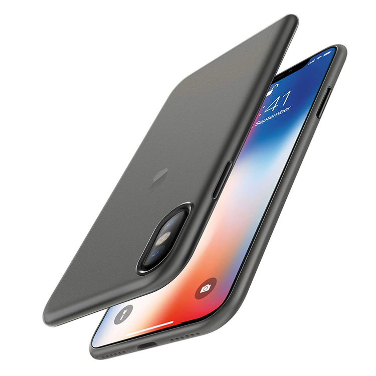 <strong>PP</strong> 0.35mm Ultra-Thin Slim Perfect Fit Thinnest Hard Cover Semi-transparent Lightweight Phone Caase for iPhone X Case