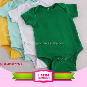 Short sleeve blank organic cotton wholesale carters baby clothes factory custom plain unisex baby rompers cotton multicolor
