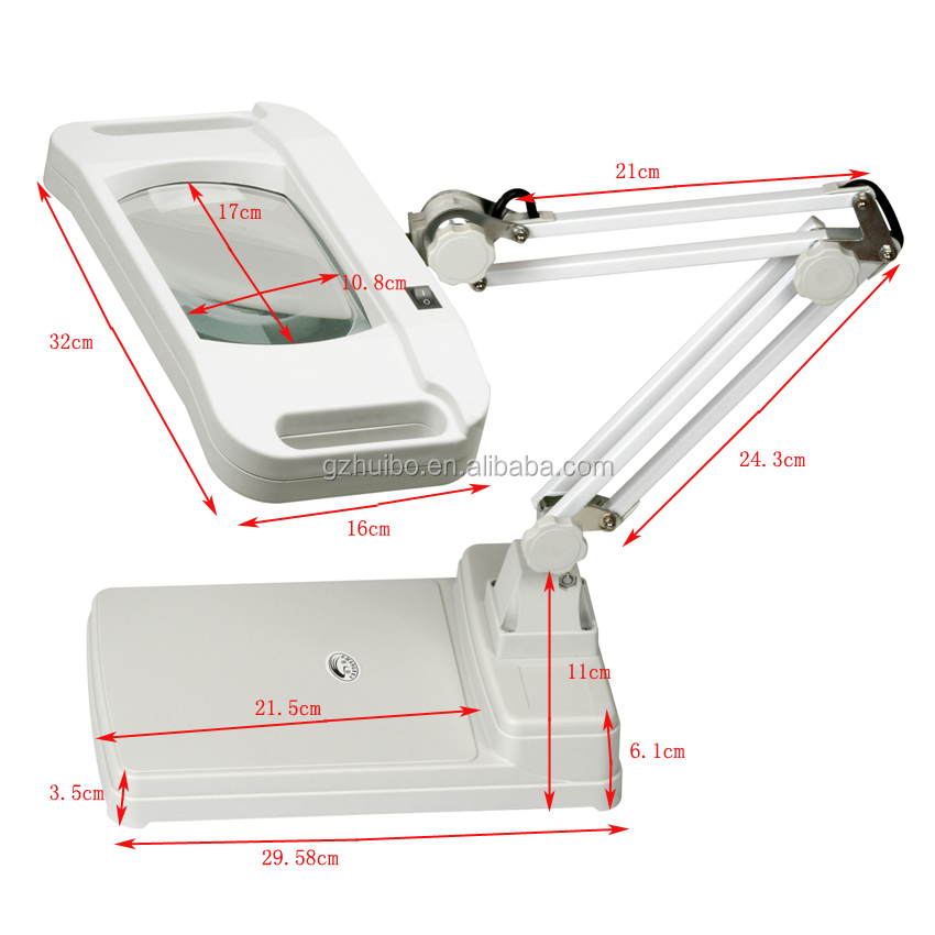 5X 8X 10X 15X Table top/Desk top LED Magnifier