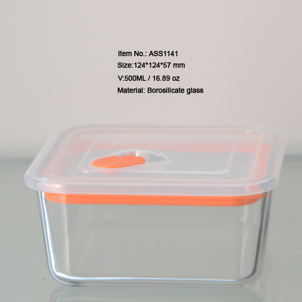Gl Container With Pp Lid Microwave Oven Safe Rectangular For Food Storage